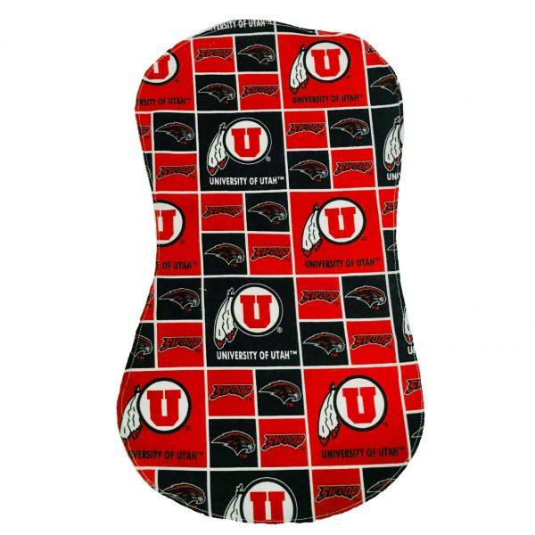 U of U Plaid Checkered Baby Burp Cloth