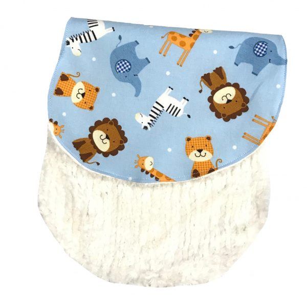 Cotton & Chenille Zoo Animal Themed Burp Cloth
